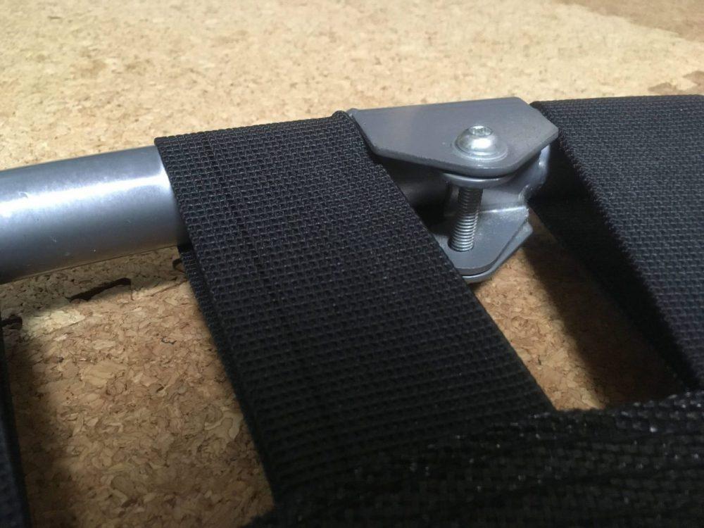 折りたたみ式トランポリンフレームのでっぱり部分1